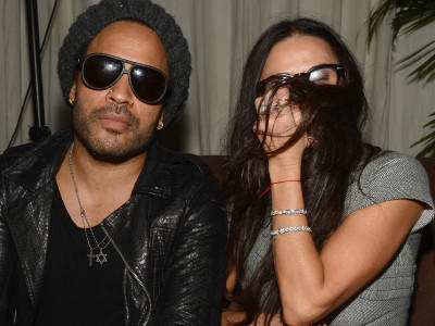Demi Moore Lenny Kravitz feiern chanel party