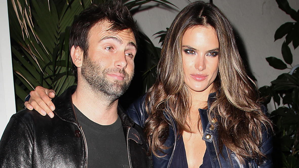 Alessandra Ambrosio and her fiance Jamie Mazur leave a Grammy Party.