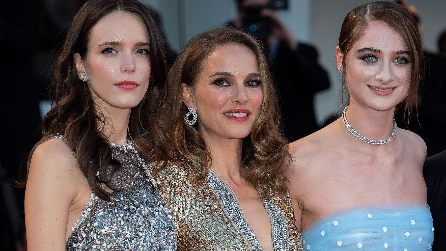 'Vox Lux' screening during the 75th Venice Film Festival in Venice, Italy.Pictured: Stacy Martin,Natalie Portman,Raffey CassidyRef: SPL5020813 040918 NON-EXCLUSIVEPicture by: SplashNews.comSplash News and PicturesLos Angeles: 310-821-2666New York: 21
