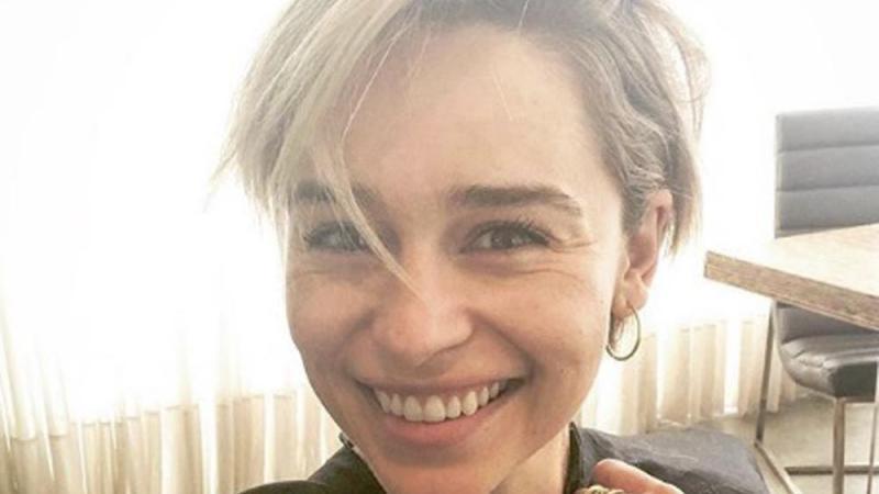 Emilia Clarke Freche Kurzhaar Frisur