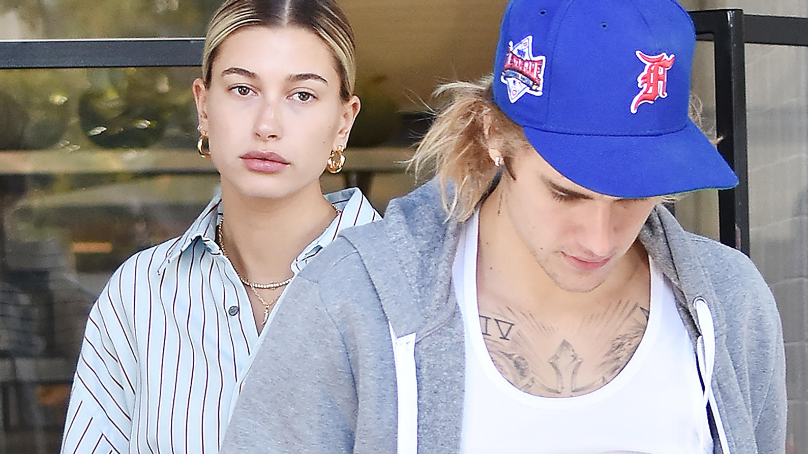 Justin Bieber and, fiance, Hailey Rhode Baldwin are seen leaving West Hollywood's Joans on 3rd in Los Angeles, CA.Pictured: Justin Bieber,Hailey Rhode Baldwin,Hailey BaldwinRef: SPL5030919 041018 NON-EXCLUSIVEPicture by: SplashNews.comSplash News and