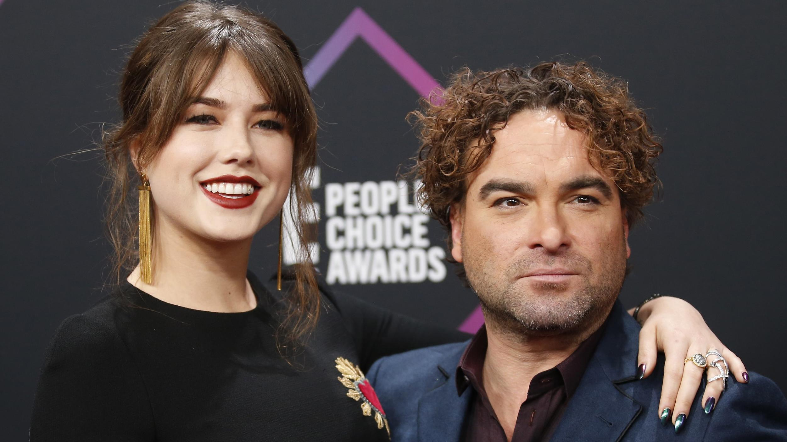 People's Choice Awards - Arrivals - Santa Monica, California, U.S., 11/11/2018 - Johnny Galecki and Alaina Meyer. REUTERS/Danny Moloshok