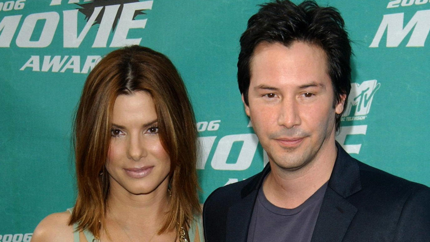 Sandra Bullock und Keanu Reeves bei den MTV Movie Awards 2006 in Los Angeles.