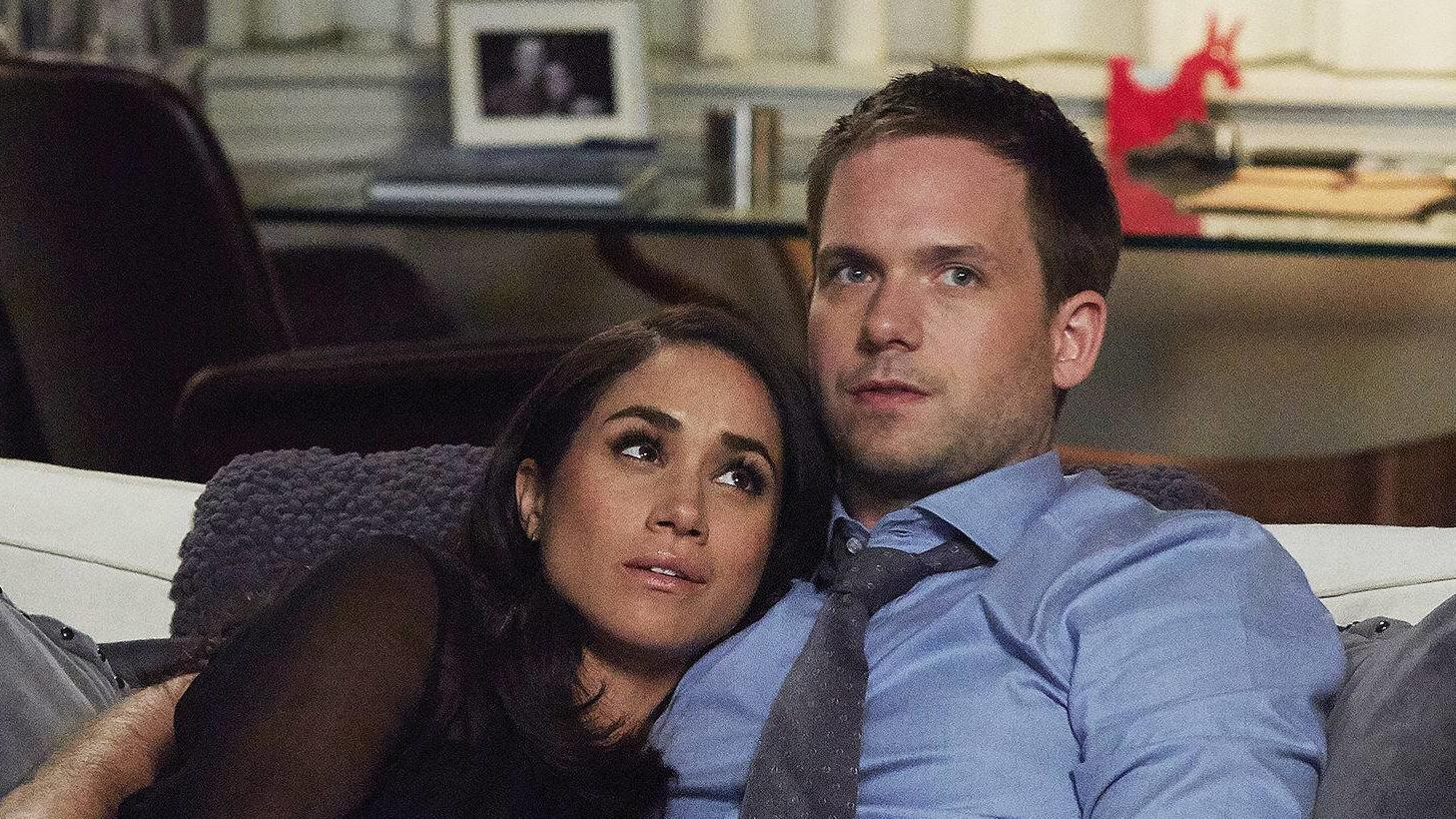 "Herzogin Meghan und Patrick J. Adams in der US-Serie ""Suits"""