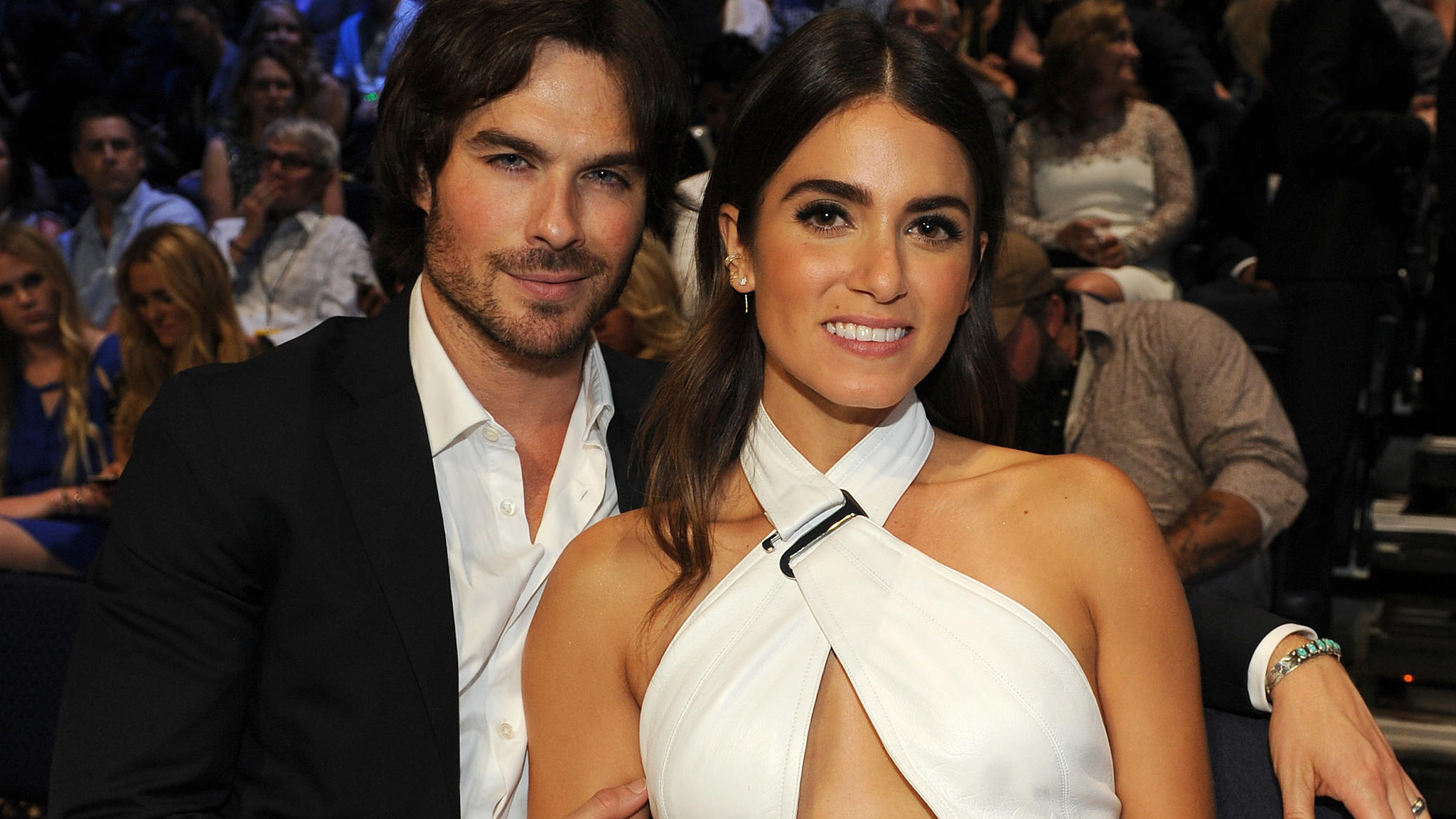 NASHVILLE, TN - JUNE 10: Ian Somerhalder, Nikki Reed at the 2015 CMT Music Awards at the Bridgestone Arena on June 10, 2015 in Nashville, Tennessee. (Photo by Frank Micelotta/PictureGroup)