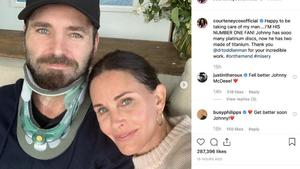 Courteney Cox: Sorge um ihren Freund Johnny McDaid