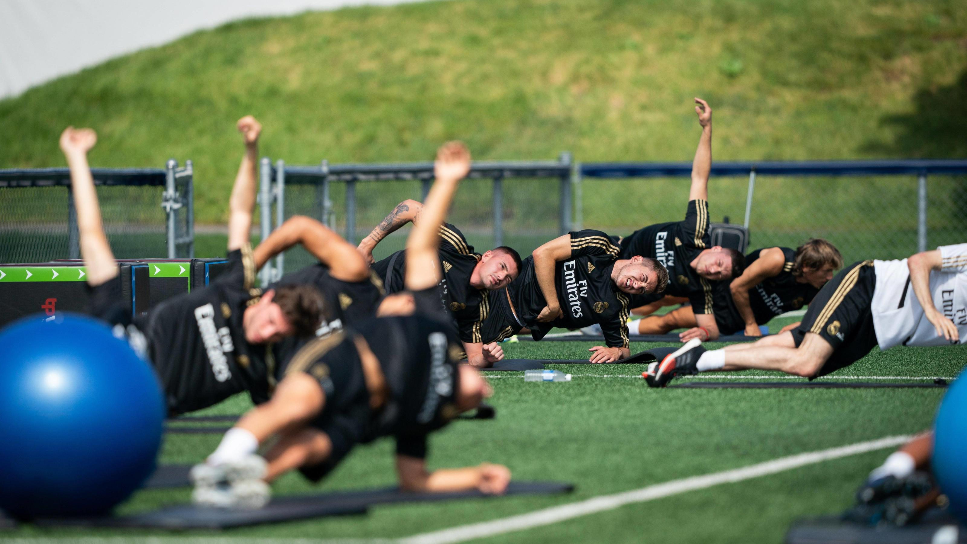 Real Madrid s players during a training session this Saturday, July 13, at the Montreal Impact Training Facility, in Montreal, Canada. Real Madrid is conducting pre-season in Canada. Real Madrid s training session in Montreal !ACHTUNG: NUR REDAKTIONE