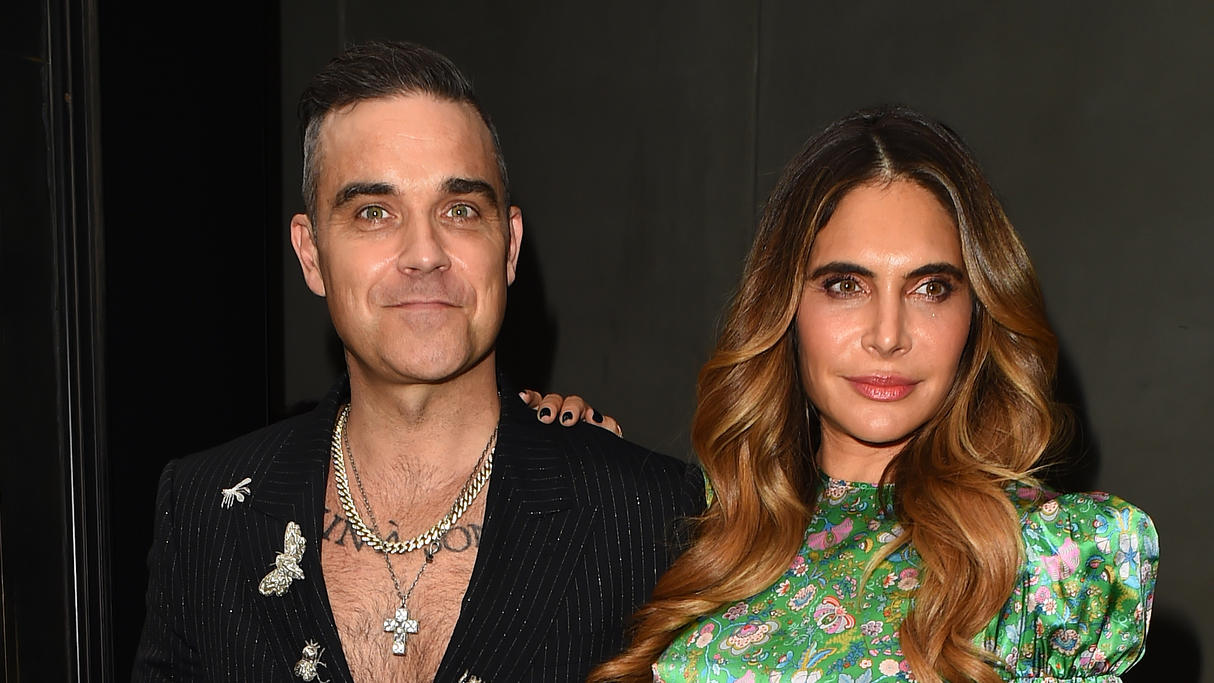Celebrities attend the annual ITV Summer Party at Nobu Hotel in ShoreditchPictured: Robbie Williams and Ayda FieldRef: SPL5104443 170719 NON-EXCLUSIVEPicture by: Hewitt / SplashNews.comSplash News and PicturesLos Angeles: 310-821-2666New York: 212-61