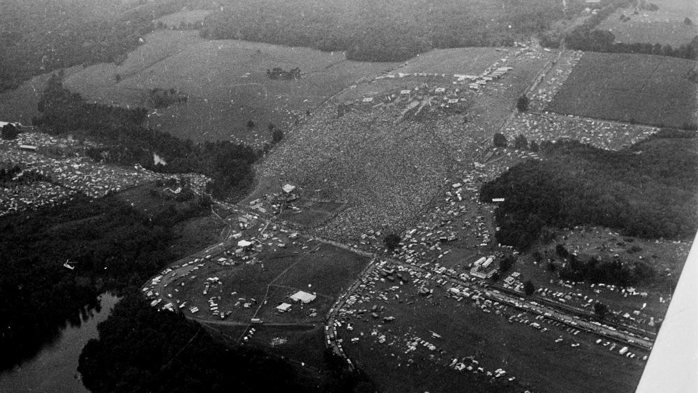 Aerial shot of Woodstock Music Festival in August 1969, in Bethel, New York, U.S. in this handout image. Paul Gerry/The Museum at Bethel Woods/Via REUTERS.  MANDATORY CREDIT. MUST COURTESY  ©PAUL GERRY AND THE MUSEUM AT BETHEL WOODS. NO ARCHIVE.NO R