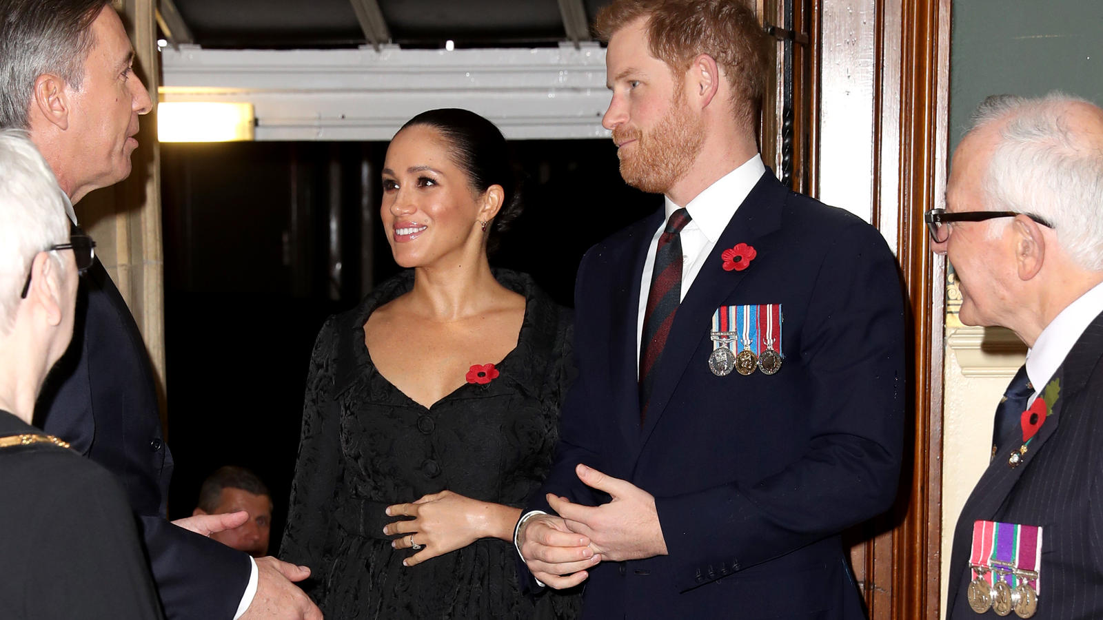 "Herzogin Meghan und Prinz Harry beim ""Festival of Remembrance"" 2019 in der Royal Albert Hall in London."
