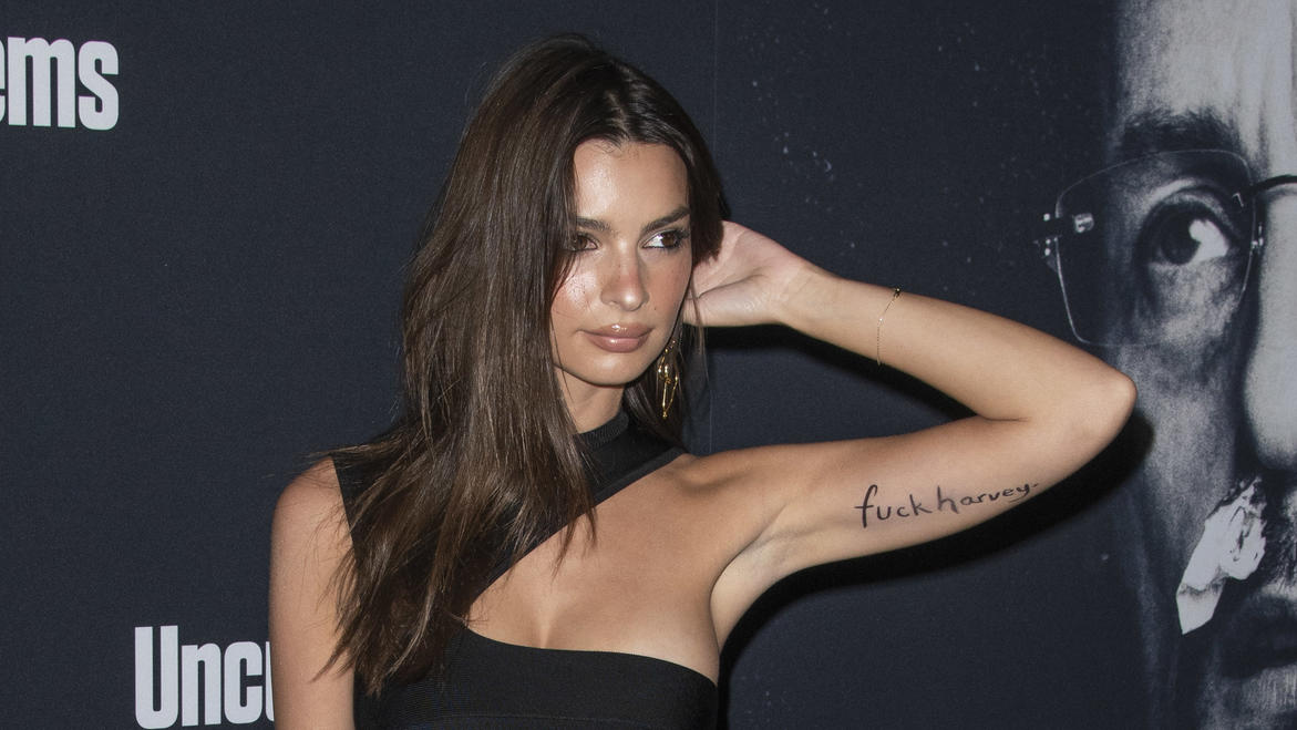 Emily Ratajkowski & Sebastian Bear-McClardattend the LA premiere of ''Uncut Gems'' at The Dome in Los Angeles, California. (Credit Image: Charlie Steffens/ZUMA Wire)Pictured: Emily RatajkowskiRef: SPL5135338 111219 NON-EXCLUSIVEPicture by: Zuma /