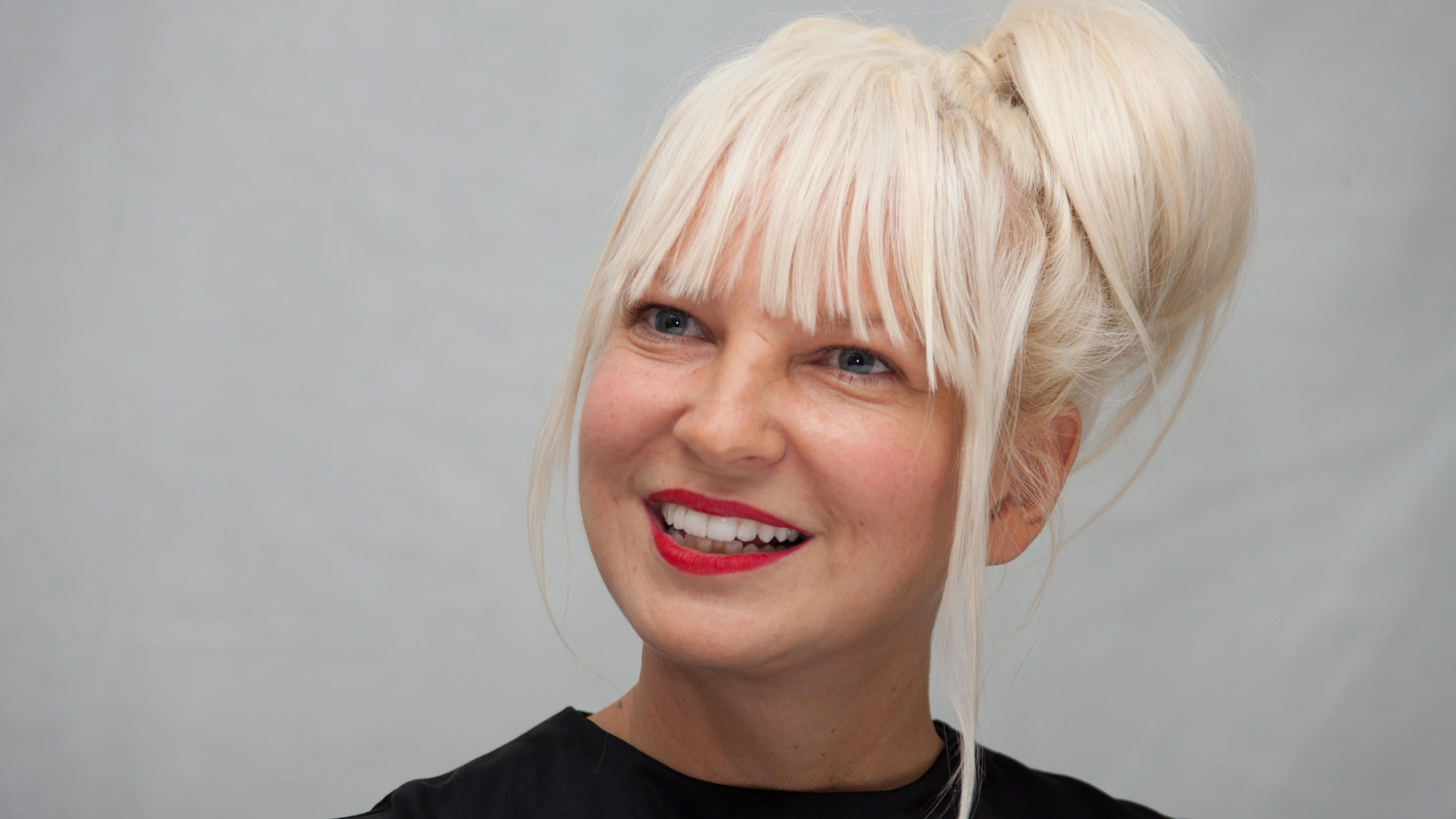 Singer Sia attends the junket for the film Annie in New York City, NY, USA, December 3, 2014. Photo by HT/ABACAPRESS.COM