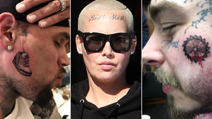 Top 5 der Grusel-Gesichts-Tattoos