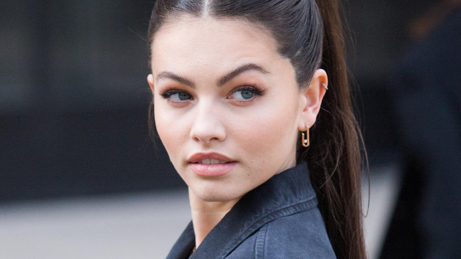 Thylane Blondeau unterwegs bei der Fashion Week in Paris.