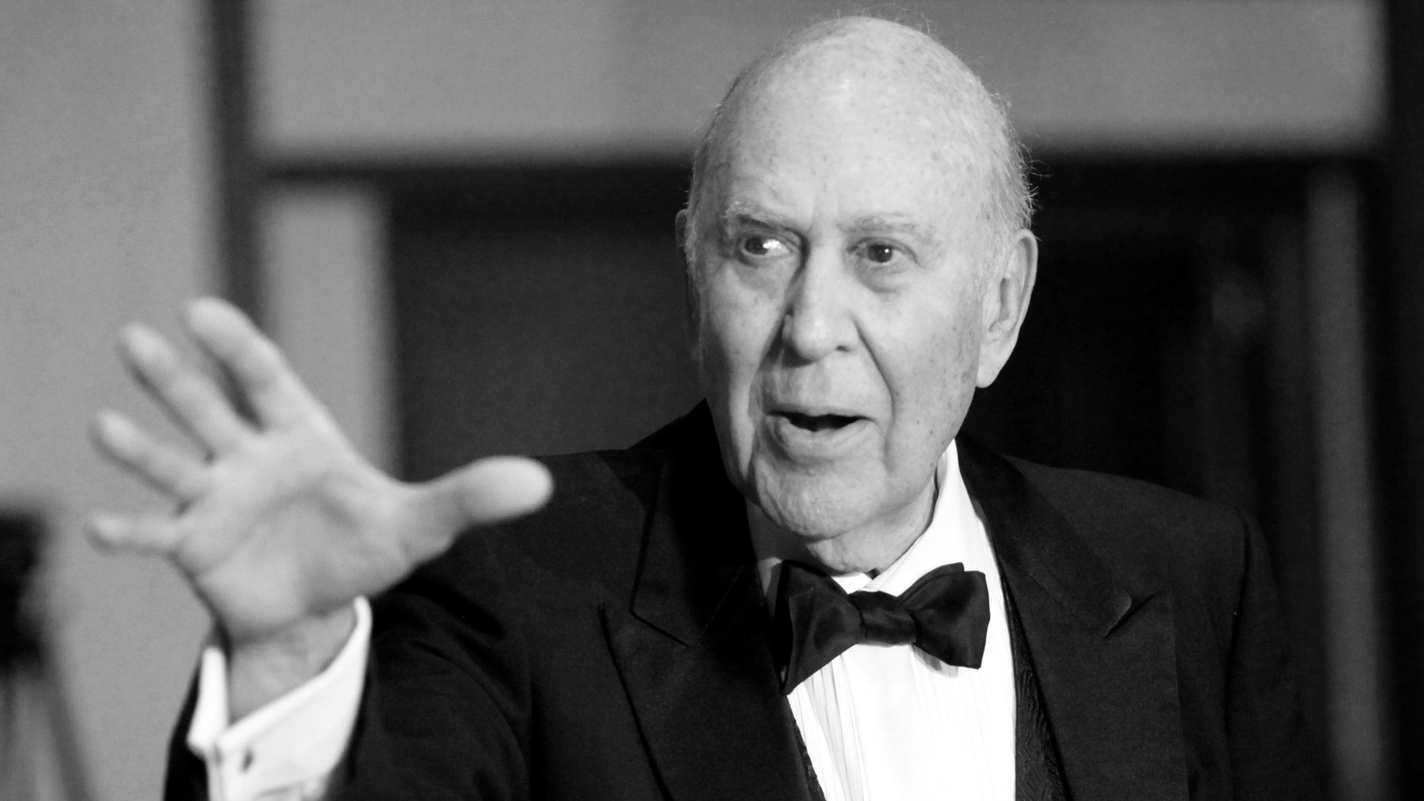FILE PHOTO: Master of Ceremonies for the night Carl Reiner arrives at the 62nd Annual Directors Guild of America Awards in Los Angeles January 30, 2010. REUTERS/Danny Moloshok/File Photo