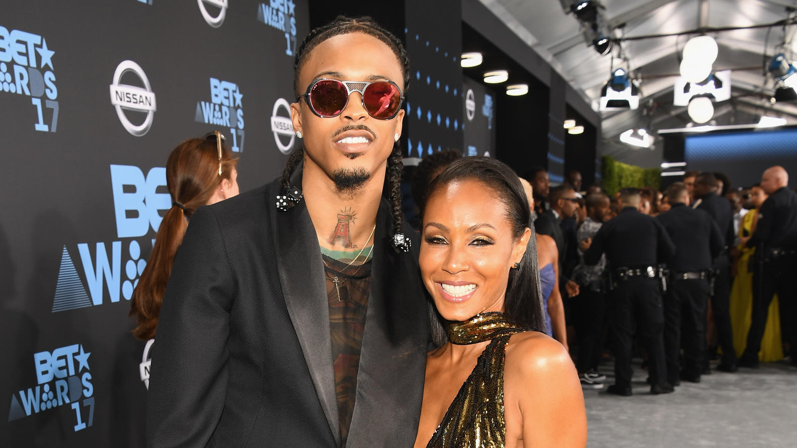 Sie kennen sich: Rapper August Alsina und Jada Pinkett Smith bei den BET Awards 2017 BET.