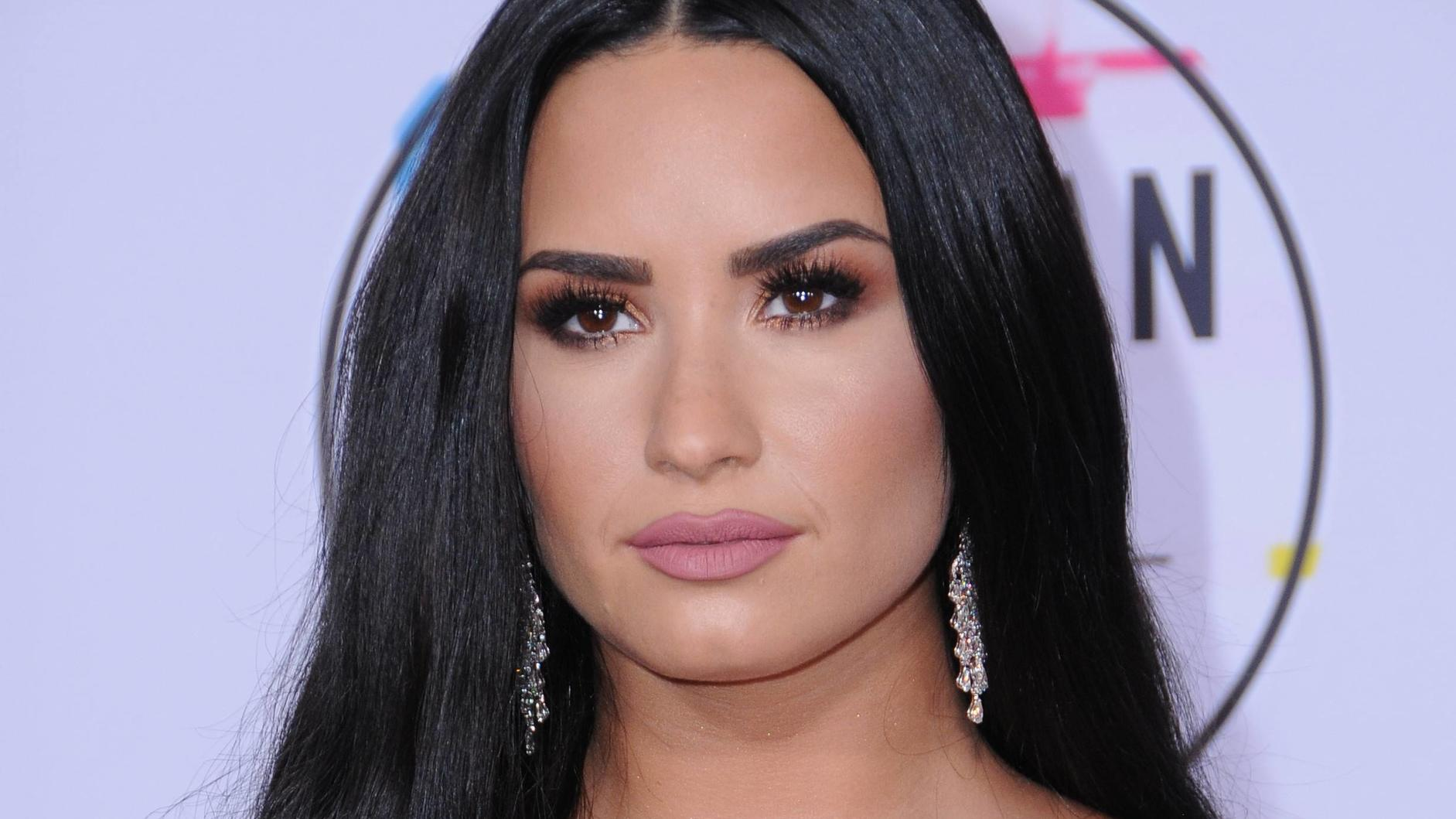 July 24, 2018 - Los Angeles, CA, U.S. - 24 July 2018 - Singer Demi Lovato has been hospitalized after suffering an apparent drug overdose. File Photo: 19 November 2017 - Los Angeles, California - Demi Lovato. 2017 American Music Awards held at Micro