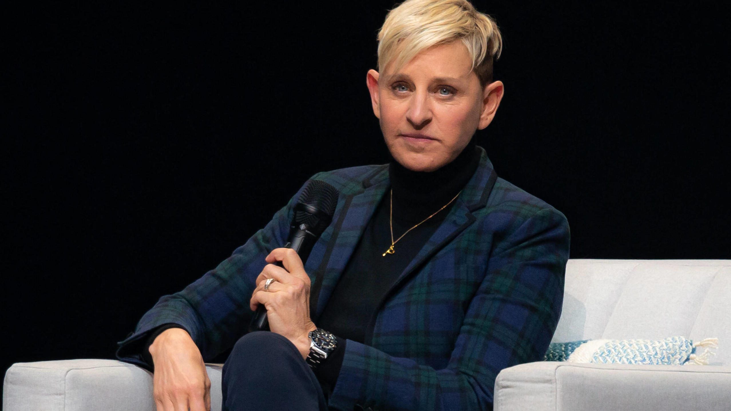 Portrait - Ellen Degeneres in Montreal, Canada Ellen Degeneres speaks at the Bell Center in Montreal. March 1, 2019, Montreal, Canada. Montreal Quebec Canada PUBLICATIONxINxGERxSUIxAUTxONLY Copyright: xDavidxHimbertx HL_DHIMBERT_729252