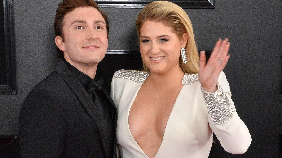 Daryl Sabara and Meghan Trainor arrive for the 61st annual Grammy Awards held at Staples Center in Los Angeles on February 10, 2019. PUBLICATIONxINxGERxSUIxAUTxHUNxONLY LAP20190210669 JIMxRUYMEN