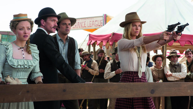 Amanda Seyfried, Neil Patrick Harris, Seth MacFarlane und Charlize Theron in 'A Million Ways to Die in the West'.