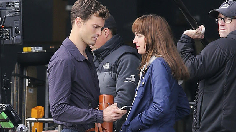 Jamie Dornan und Dakota Johnson spielen in 'Fifty Shades of Grey'