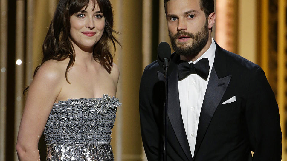 Jamie Dornan und Dakota Johnson bei den Golden Globe Awards