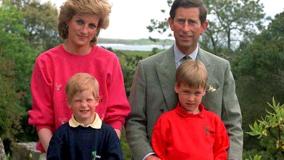Diana, Charles, William und Harry