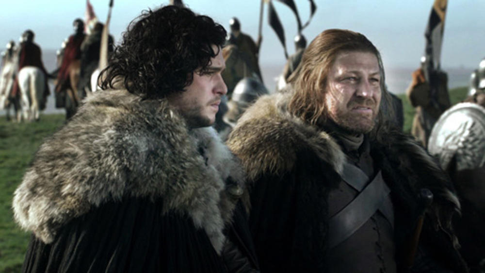 """Game of Thrones"":  Kit Harington alias Jon Snow mit Sean Bean als Ned Stark."