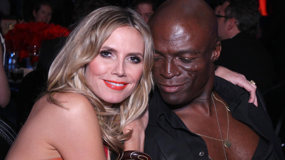 BEVERLY HILLS, CA - JANUARY 16:  Heidi Klum and Seal attend the InStyle and Warner Bros. 68th annual Golden Globe awards post-party at The Beverly Hilton hotel on January 16, 2011 in Beverly Hills, California. (Photo by Alexandra Wyman/Getty Images)