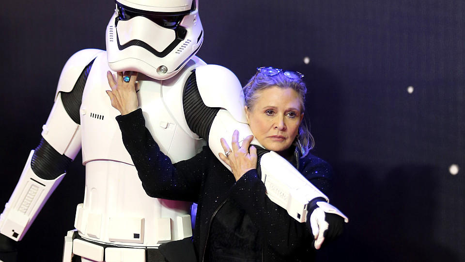 Carrie Fisher bei der Premiere in London