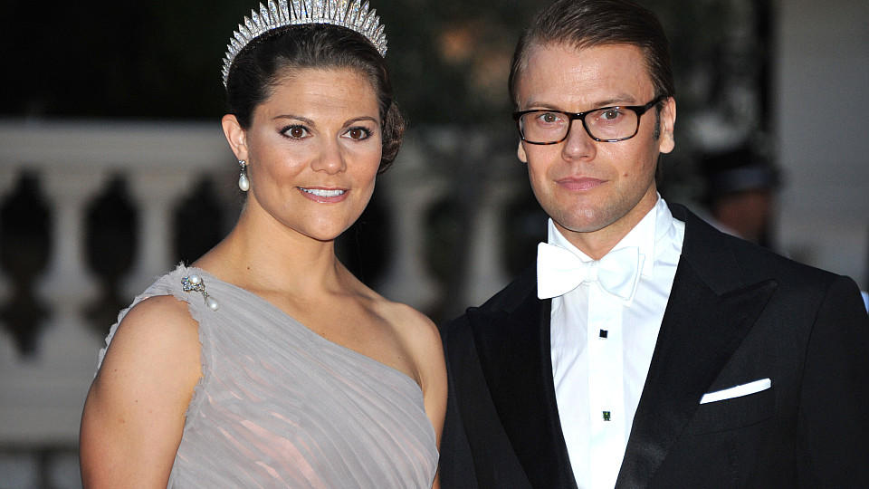 Crown Princess Victoria and Prince Daniel attend the official dinner on the Opera terraces after the religious wedding of Prince Albert II and Princess Charlene of Monaco in Monaco, 02 July 2011. 450 guests have been invited for the dinner followed b