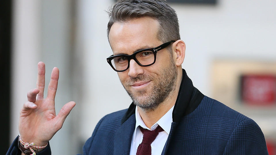 Actor Ryan Reynolds arriving at the BBC Radio Studios to promote his new Superhero film 'Deadpool' - London