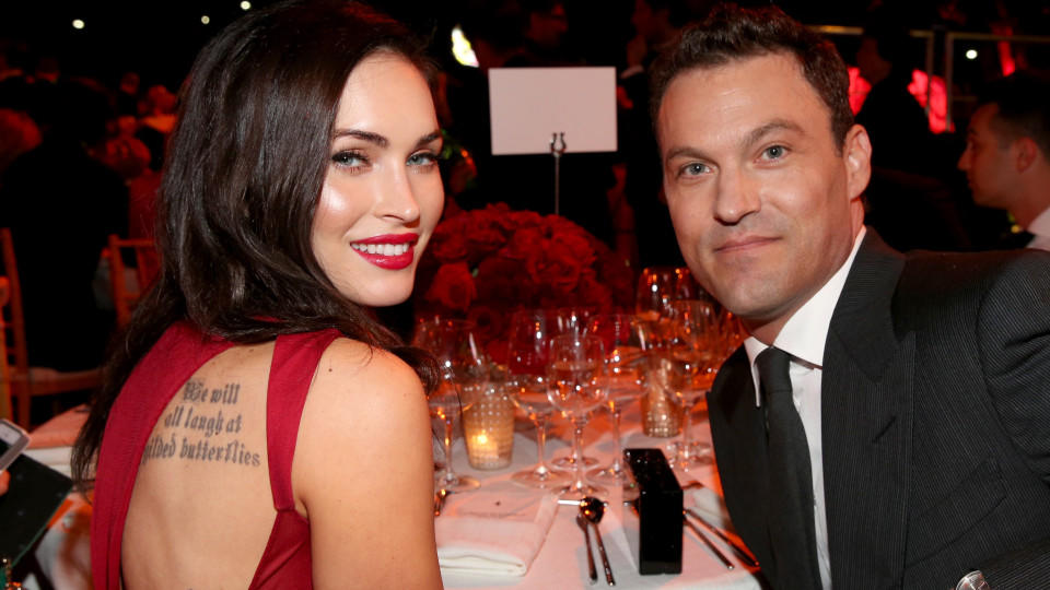 Actors Megan Fox (L) and Brian Austin Green attend Ferrari Celebrates 60 Years In America on October 11, 2014 in Los Angeles, California.  (Photo by Jonathan Leibson/Getty Images for Ferrari North America)