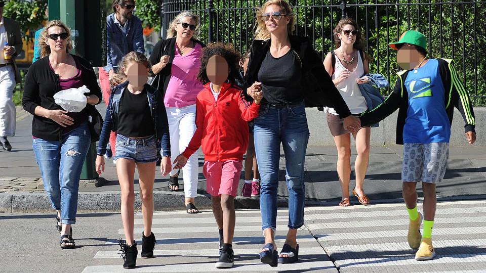 Heidi Klums Tochter Leni 12 Sorgt Mit Ihrem Outfit Für ärger