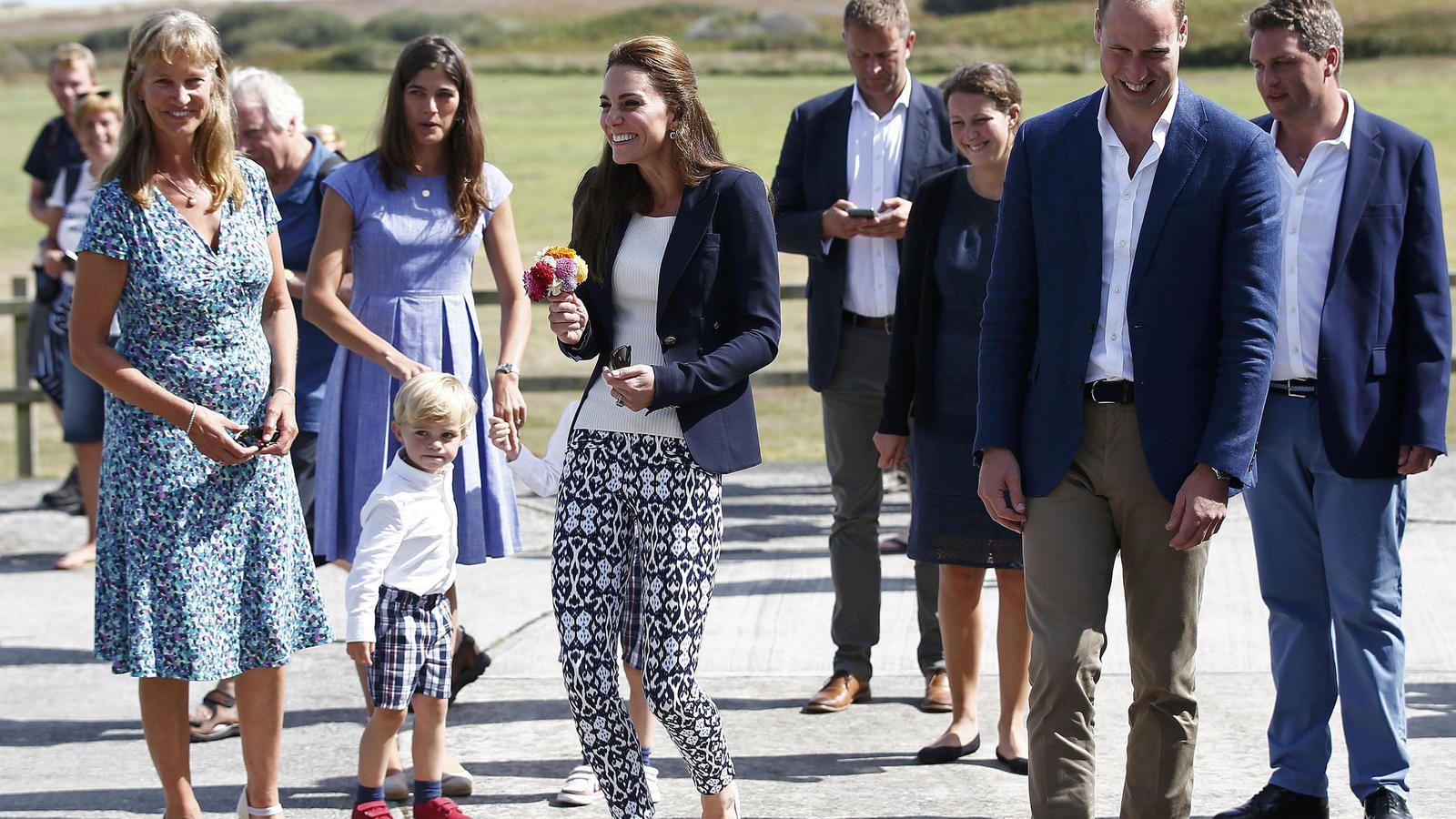 The Duke and Duchess of Cambridge visit Tresco Abbey Garden, Tresco, Scilly Islands, UK, on the 2nd September 2016.Picture by Peter Nicholls/WPA-Pool