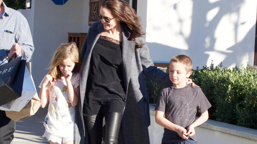 Angelina Jolie shopping in Malibu, California.