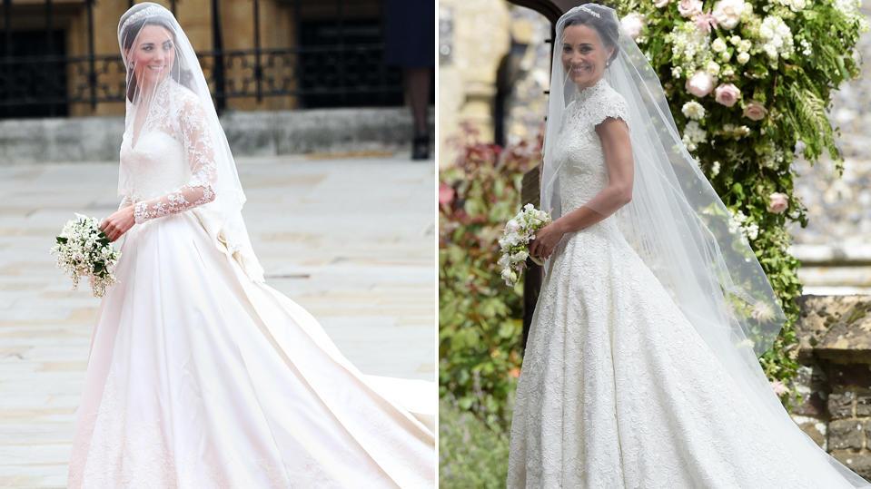 Pippa Middleton vs. Kate - wer hatte das schönere Hochzeitskleid?