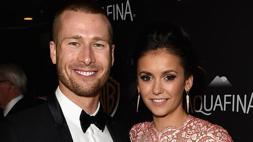 Glen Powell und Nina Dobrev bei einer Hollywood-Party im Januar 2016