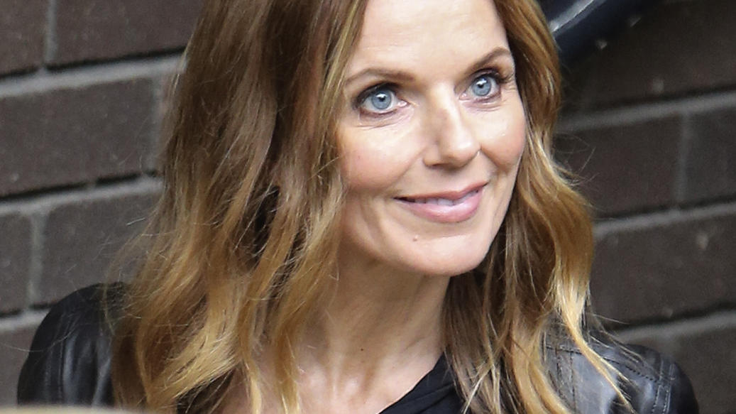 Singer Geri Horner is pictured leaving the ITV studios following a guest appearance on 'Loose Women'.