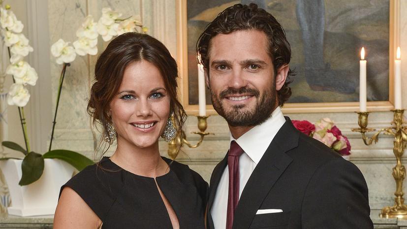 Eine Prinzessin Zu Weihnachten.Prinz Carl Philip Und Prinzessin Sofia Von Schweden