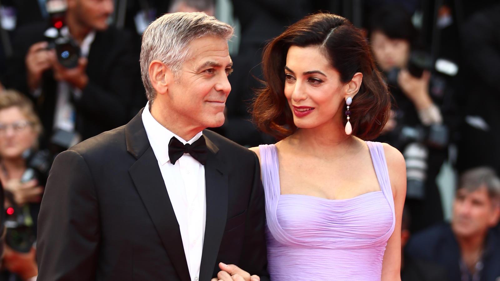 George und Amal Clooney: Das essen ihre Zwillinge am liebsten