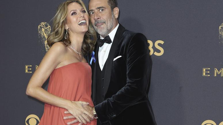 69th Primetime Emmy Awards – Arrivals – Los Angeles, California, U.S., 17/09/2017 -  Jeffrey Dean Morgan and Hilarie Burton. REUTERS/Mike Blake