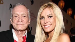 Hugh Hefner's wife Crystal Harris pays tribute to her lat...