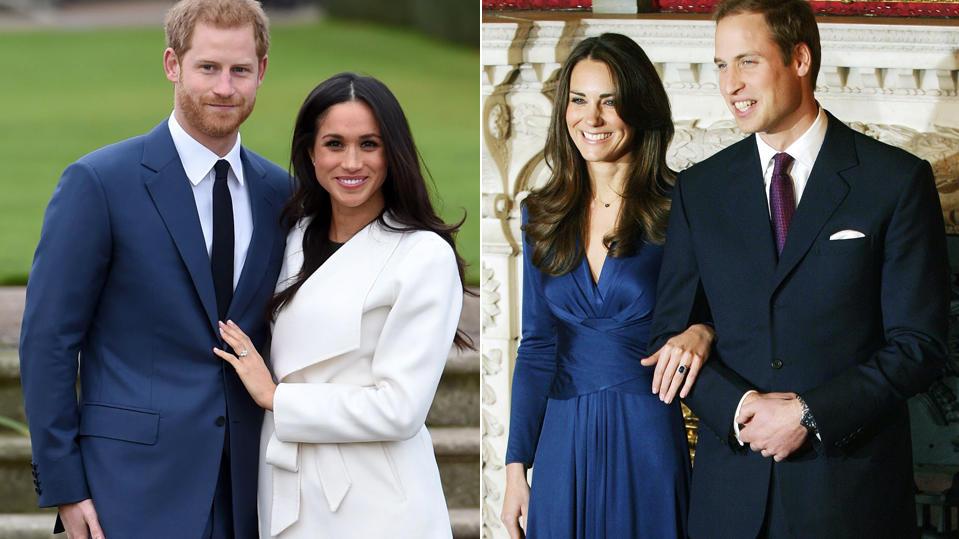 Meghan Markle vs. Herzogin Kate: Welche Verlobung hat die Nase vorn?