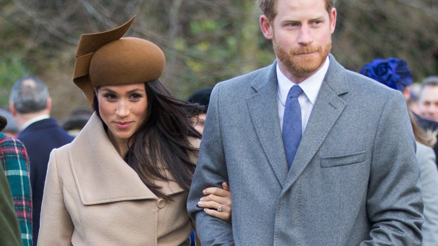 UK PAPERS/WEB OUTThe Duke and Duchess of Cambridge, Meghan Markle and Prince Harry and other members of the Royal Family at the Christmas Day morning church service at St Mary Magdalene Church in Sandringham, Norfolk, United Kingdom.