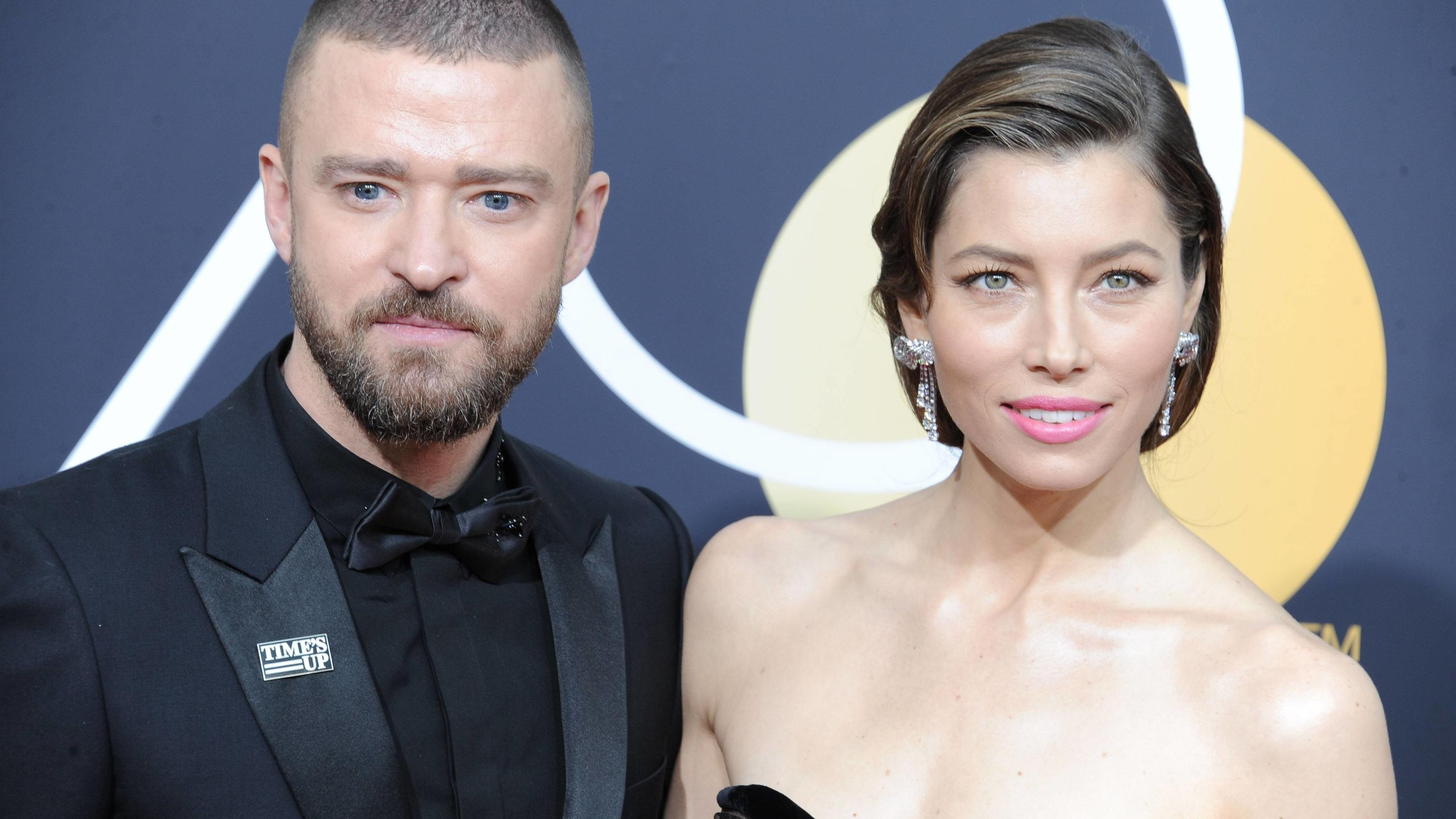 January 7, 2018 - Hollywood, California, U.S. - Justin Timberlake, Jessica Biel attends The 75th Golden Awards Arrivals held at the Beverly Hilton Hotel in Beverly Hills, California on January 7, 2018. 2018 Hollywood U.S. PUBLICATIONxINxGERxSUIxAUTxO