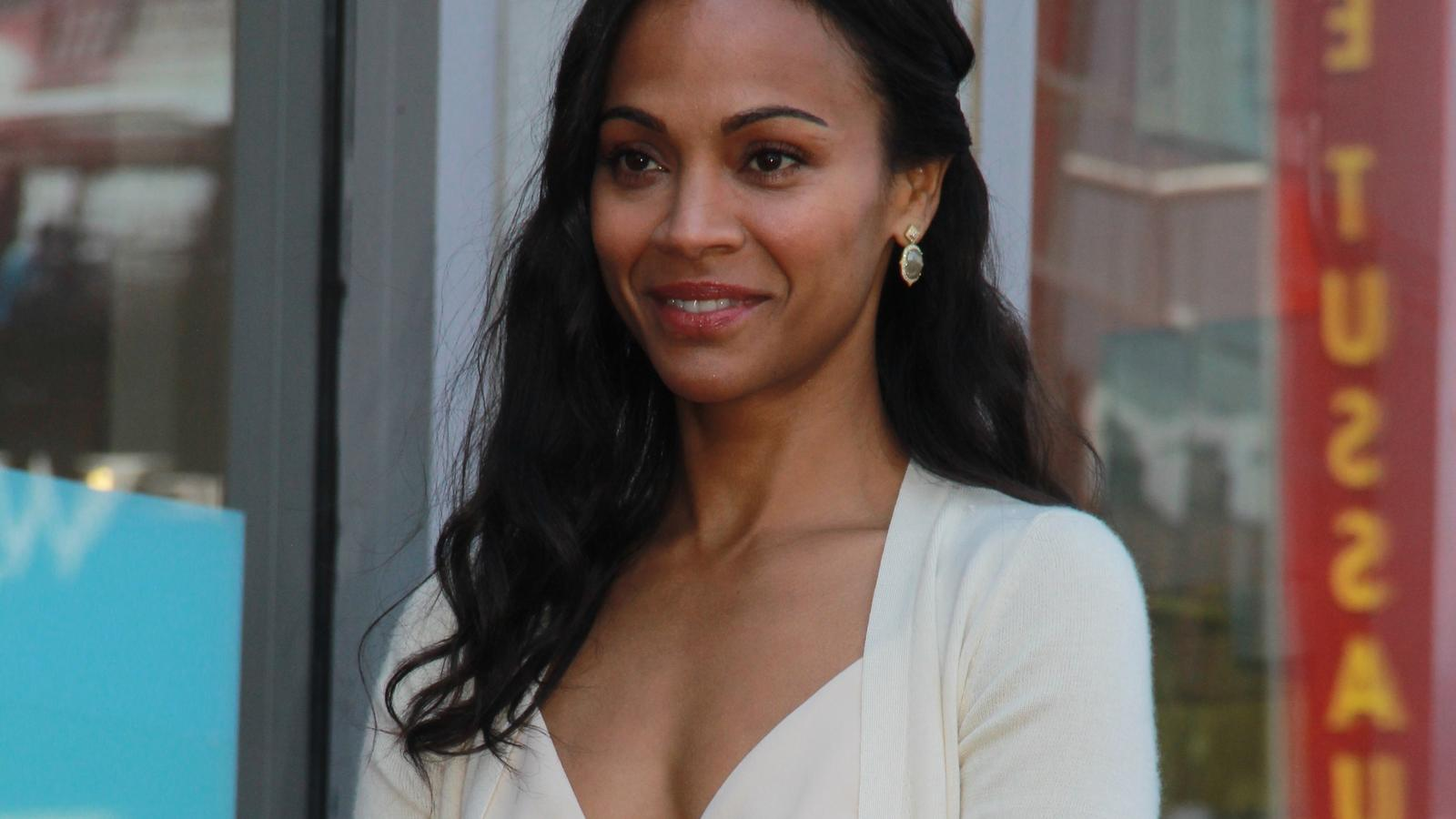 May 3, 2018 - Los Angeles, California, U.S - Zoe Saldana star honoring ceremony on the Hollywood Walk of Fame in Los Angeles, May 3, 2018.