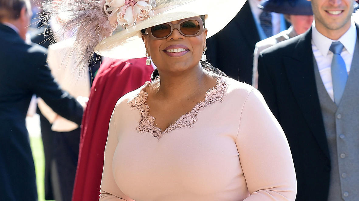 Oprah Winfrey arrives at St George's Chapel at Windsor Castle for the wedding of Meghan Markle and Prince Harry. Saturday May 19, 2018.  Ian West/Pool via REUTERS